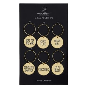"""""""Girls Night In"""" Wine Charms"""