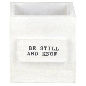 """""""Be Still And Know"""" Nesting Box"""
